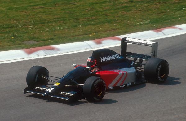 1991 San Marino Grand Prix.Imola, Italy.26-28 April 1991.Olivier Grouillard (Formet F1 Ford). He failed to pre qualify.Ref-91 SM 02.World Copyright - LAT Photographic