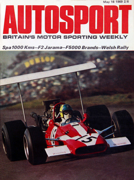 Cover of Autosport magazine, 16th May 1969