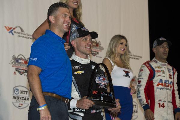 Second place finisher Ed Carpenter, Ed Carpenter Racing Chevrolet