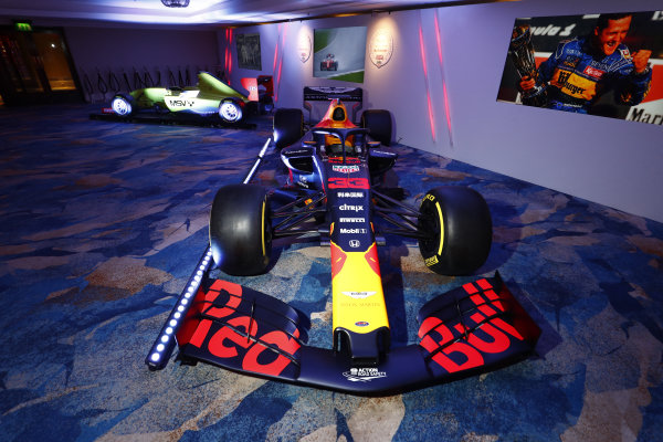 Red Bull Racing RB15 of Max Verstappen on display