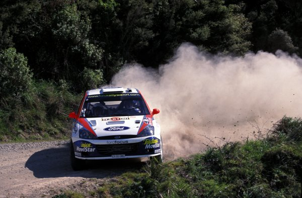 Colin McRae (GBR) / Nicky Grist (GBR) Ford Focus RS WRC 02, retired on day one.World Rally Championship, Rd12, Rally of New Zealand, Auckland, New Zealand, 6 October 2002.BEST IMAGE
