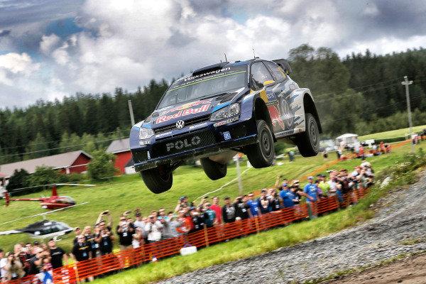 Andreas Mikkelsen (NOR) / Ola Floene (NOR) Volkswagen Polo R WRC at FIA World Rally Championship, R8, Neste Oil Rally Finland, Day One, Jyvaskyla, Finland, Friday 31 July 2015.