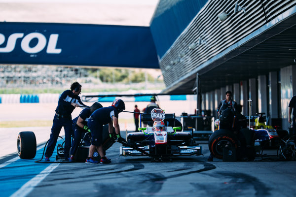 2016 GP2 Series Testing. Jerez, Spain. Thursday 31 March 2016 Luca Ghiotto (ITA) Trident    World Copyright: Malcolm Griffiths/LAT Photographic. ref: Digital Image _G7C9604