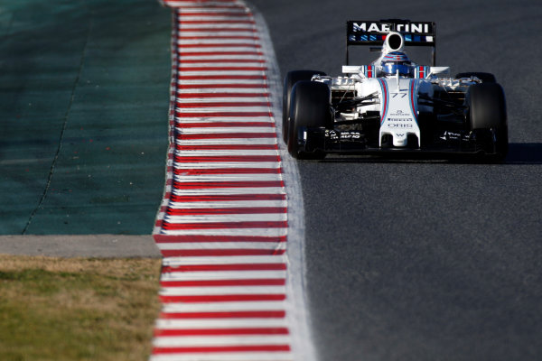 Circuit de Catalunya, Barcelona, Spain Tuesday 01 March 2016. Valtteri Bottas, Williams FW38 Mercedes.  World Copyright: Glenn Dunbar/LAT Photographic ref: Digital Image _W2Q8643
