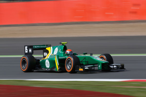 2013 GP2 Series. Round 5. Silverstone, Northamptonshire, England. 30th June. Sunday Race. Alexander Rossi (USA, Caterham Racing). Action.  World Copyright: Alastair Staley/GP2 Series Media Service. Ref: _R6T2444