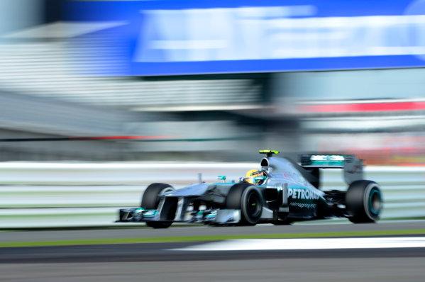 Silverstone, Northamptonshire, England 29th June 2013 Lewis Hamilton, Mercedes W04 World Copyright: Chris Bird/  ref: Digital Image _DSC1405