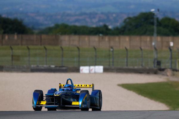 FIA Formula E Test Day, Donington Park, UK.  9th - 10th July 2014.  Nicolas Prost, e.dams. Photo: Sam Bloxham/FIA Formula E ref: Digital Image _SBL1262
