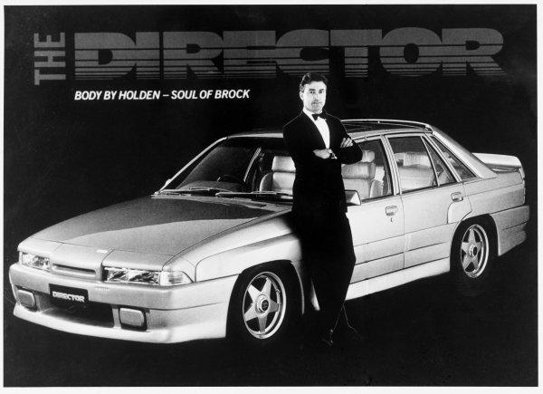 1986 Australian V8 Supercars.Peter Brock, portrait.Photo: LAT Photographic .Ref:B/W Print Only.