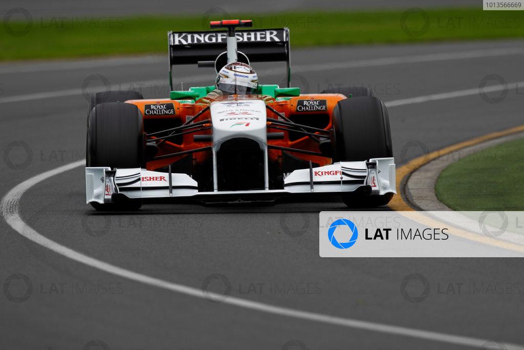 Albert Park, Melbourne, Australia 25th March 2011. Adrian Sutil, Force India VJM04 Mercedes. Action.  World Copyright: Andrew Ferraro/LAT Photographic ref: Digital Image _Q0C8274