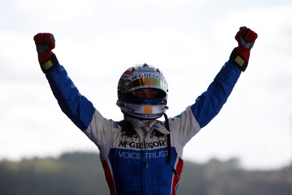 Spa-Francorchamps, Spa, Belgium. 30th August 2009.Sunday Race.Giedo  Van der Garde (NED, iSport International) celebrates his victory. World Copyright: Alastair Staley / GP2 Series Media Service.Ref: _O9T8214 jpg