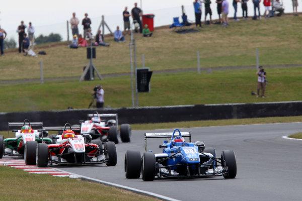 2014 British F3 International Series, Snetterton, Norfolk. 20th - 22nd June 2014. Camren Kaminsky (USA) Double R Racing Dallara Mercedes. World Copyright: Ebrey / LAT Photographic.