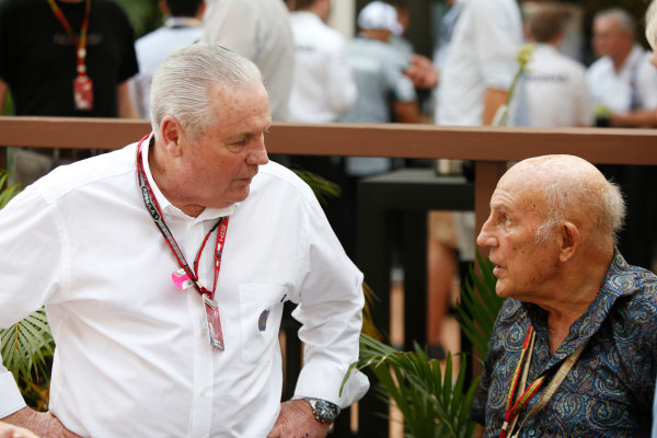 Marina Bay Circuit, Singapore. Sunday 21 September 2014. Sir Stirling Moss. World Copyright: Charles Coates/LAT Photographic. ref: Digital Image _J5R7676