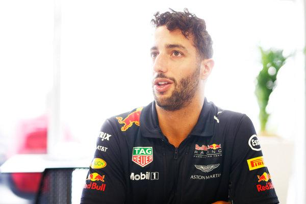 Baku City Circuit, Baku, Azerbaijan. Thursday 22 June 2017. Daniel Ricciardo, Red Bull Racing. World Copyright: Andrew Hone/LAT Images ref: Digital Image _ONZ5813