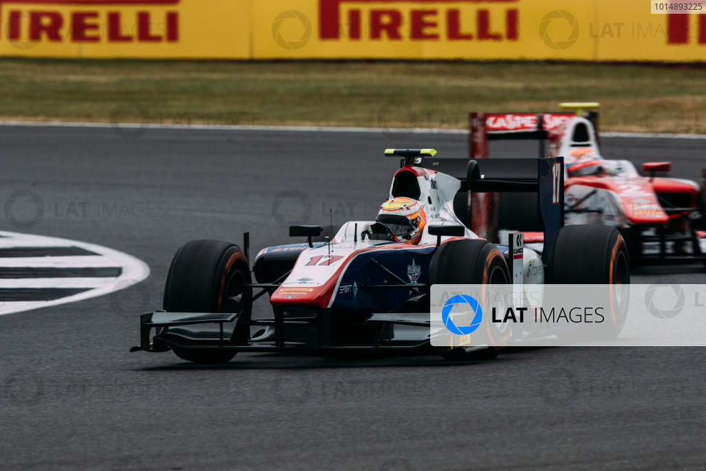 2017 FIA Formula 2 Round 6. Silverstone, Northamptonshire, UK. Sunday 16 July 2017. Callum Ilott (GBR, Trident).  Photo: Malcolm Griffiths/FIA Formula 2. ref: Digital Image MALC7655