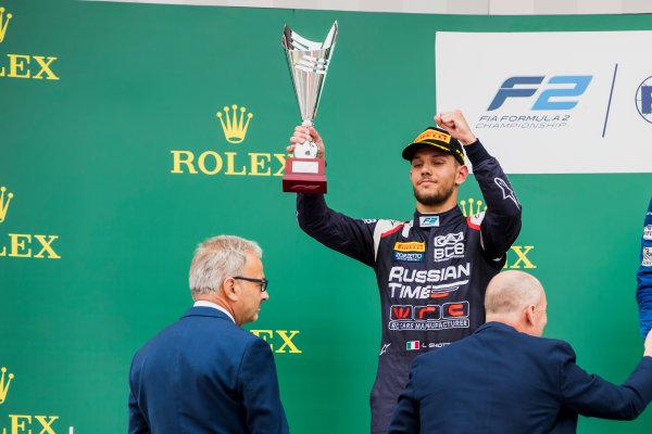 2017 FIA Formula 2 Round 6. Silverstone, Northamptonshire, UK. Sunday 16 July 2017. Luca Ghiotto (ITA, RUSSIAN TIME).  Photo: Zak Mauger/FIA Formula 2. ref: Digital Image _56I0765