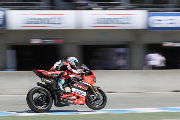 2017 Superbike World Championship - Round 8 Laguna Seca, USA. Friday 7 July 2017 Marco Melandri, Ducati Team World Copyright: Gold and Goose/LAT Images ref: Digital Image 683131
