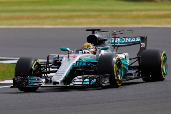 Silverstone, Northamptonshire, UK.  Friday 14 July 2017. Lewis Hamilton, Mercedes F1 W08 EQ Power+. World Copyright: Zak Mauger/LAT Images  ref: Digital Image _56I8533