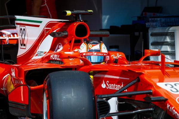 Hungaroring, Budapest, Hungary.  Tuesday 01 August 2017. Charles Leclerc, Ferrari SF70H. World Copyright: Joe Portlock/LAT Images  ref: Digital Image _R3I1882