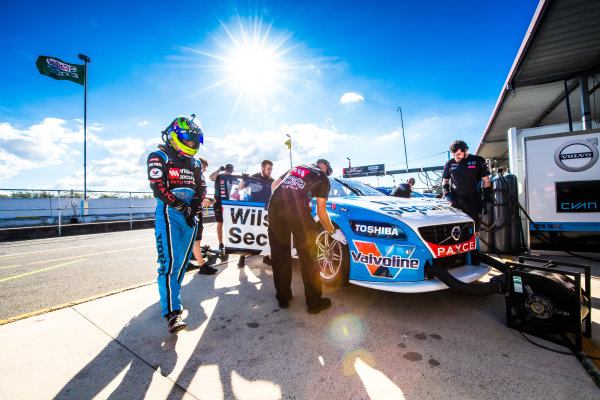 2016 Supercars Championship Round 8.  Ipswich SuperSprint, Queensland Raceway, Willowbank, Queensland, Australia. Friday 22nd July to Sunday 24th July 2016. James Golding driver of the Wilson Security Racing GRM Volvo S60. World Copyright: Daniel Kalisz/LAT Photographic Ref: Digital Image 220716_VASCR8_IPSWICH_DKIMG_0666.JPG