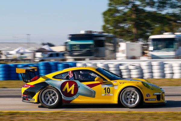 2017 Porsche GT3 Cup USA Sebring International Raceway, Sebring, FL USA Wednesday 15 March 2017 10, Franklin Raso, GT3G, USA, 2016 Porsche 991 World Copyright: Jake Galstad/LAT Images ref: Digital Image lat-galstad-SIR-0317-14885