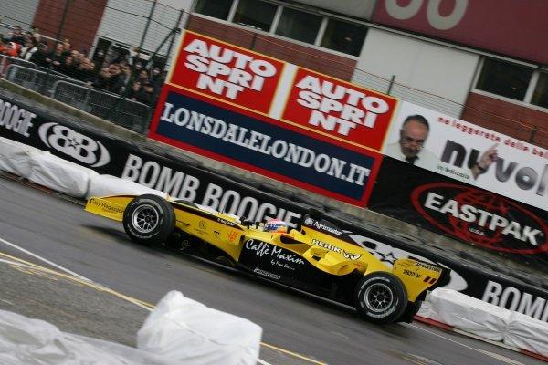 Thomas Biagi (ITA) drove a Jordan EJ15Bologna Motor Show, Bologna, Italy, 3-4 December 2005.DIGITAL IMAGE