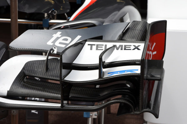 Sauber C33 front wing detail.