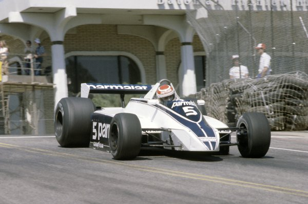 1980 United States Grand Prix West.Long Beach, California, USA. 28-30 March 1980.Nelson Piquet (Brabham BT49-Ford Cosworth), 1st position.World Copyright: LAT PhotographicRef: 35mm transparency 80LB05