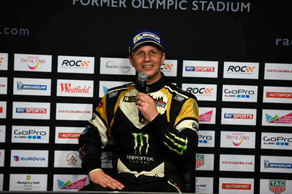 2015 Race Of Champions Olympic Stadium, London, UK Saturday 21 November 2015 Petter Solberg (NOR) in the post event Press Conference Copyright Free FOR EDITORIAL USE ONLY. Mandatory Credit: 'IMP'