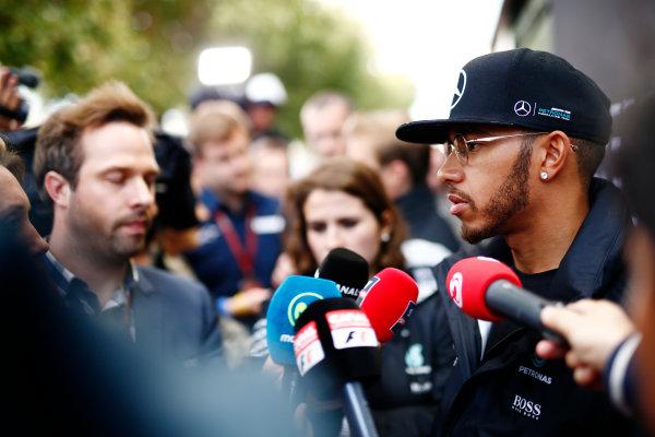 Albert Park, Melbourne, Australia. Friday 18 March 2016. Lewis Hamilton, Mercedes AMG. World Copyright: Andrew Hone/LAT Photographic ref: Digital Image _ONZ2184