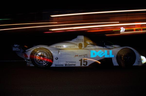 Le Mans, France. 12th - 13th June 1999.Pierluigi Martini/Yannick Dalmas/Joachim Winkelhock (BMW V12 LMR), 1st position, night action.World Copyright: LAT Photographic.Ref:  99_LM_c