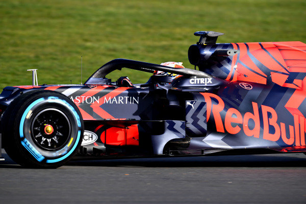 Max Verstappen, Red Bull Racing RB15 during Red Bull Racing filming day at Silverstone