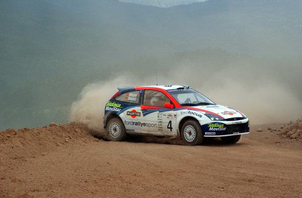 World Rally Championship, Acropolis Rally, June 13-16, 2002.Carlos Sainz during shakedown.Photo: Ralph Hardwick/LAT