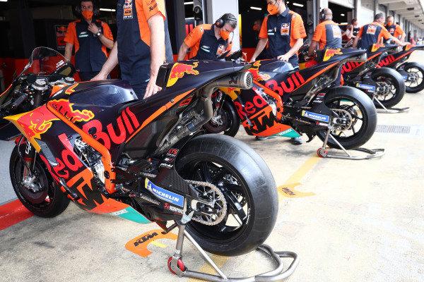 Red Bull KTM Factory Racing bikes.