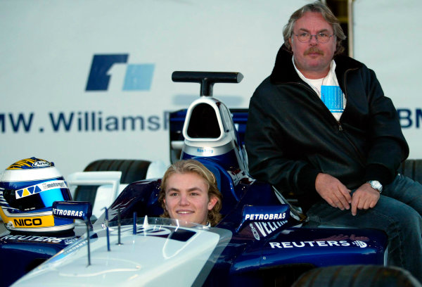 2002 Formula One TestingBarcelona, Spain. 3rd December 2002Keke and Nico Rosberg, BMW WilliamsWorld Copyright - Rose/LATref: digital file only