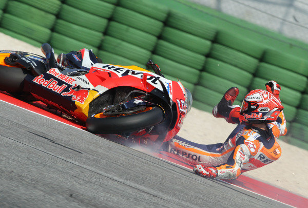 Marc Marquez, Repsol Honda Team crash.