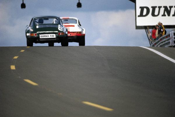 Raymond Touroul / Andre Anselme, ASA Cachia Bundi, Porsche 911 S, leads Richard Bond / Paul Vestey, Paul Watson Race Organisation, Porsche 911 S.