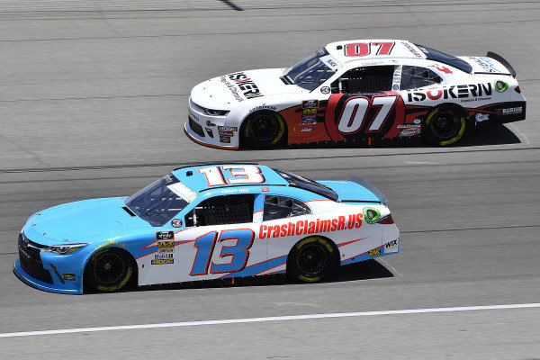 #13: Timmy Hill, Motorsports Business Management, Toyota Camry CrashClaimsR.US and #07: Ray Black II, SS Green Light Racing, Chevrolet Camaro ISOKERN Fireplaces & Chimneys, Scuba Life