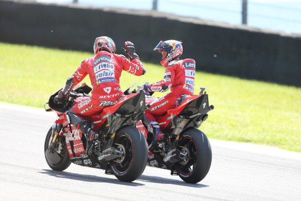Danilo Petrucci, Ducati Team & Andrea Dovizioso, Ducati Team.