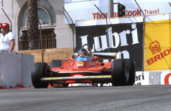 1979 United States Grand Prix West.Long Beach, California, USA.6-8 April 1979.Gilles Villeneuve (Ferrari 312T4) 1st position.Ref-79 LB 06.World Copyright - LAT Photographic