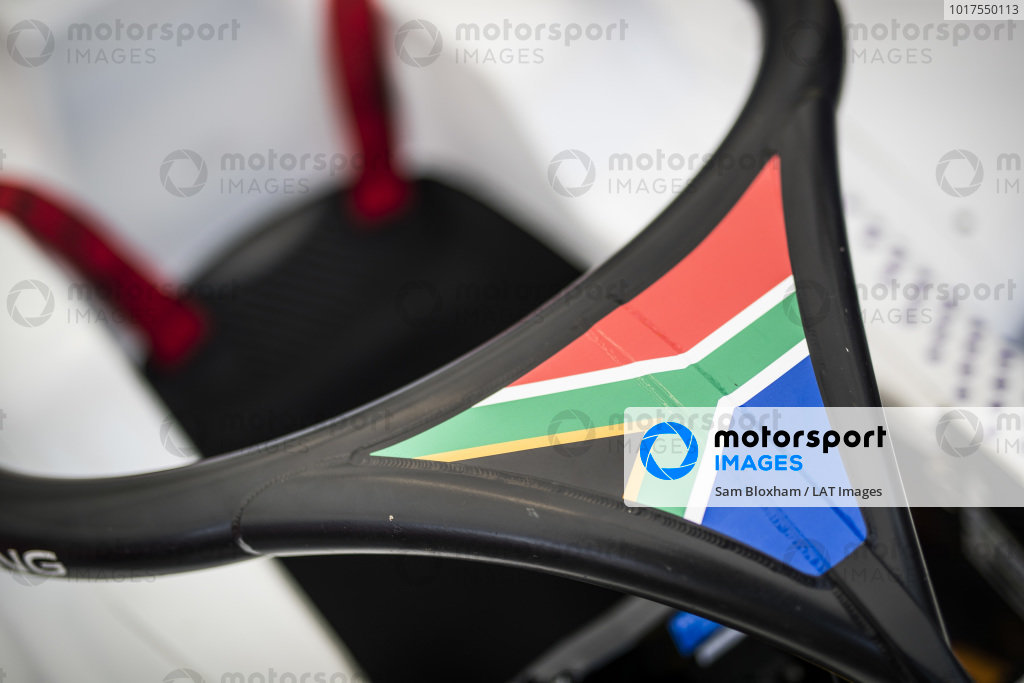 South African flag on the halo