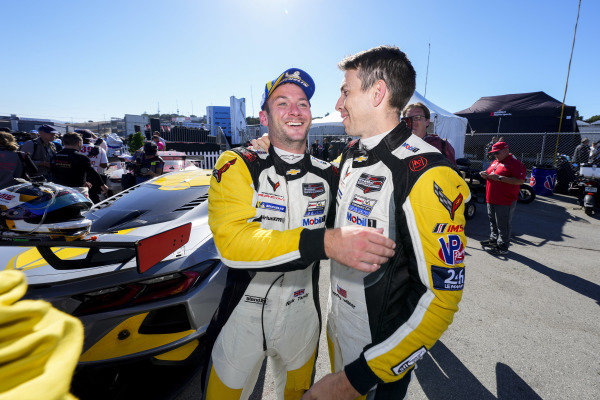 #4: Corvette Racing Corvette C8.R, GTLM: Tommy Milner, Nick Tandy, podium, winner