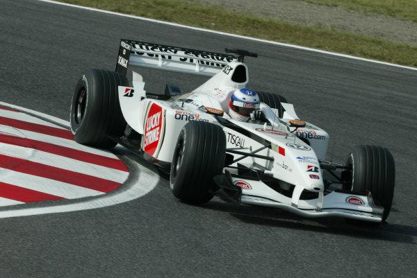 2002 Japanese Grand Prix.Suzuka, Japan.11-13 October 2002.Olivier Panis (B.A R. 004 Honda).World Copyright - Steve Etherington/LAT Photographicref: Digital Image Only
