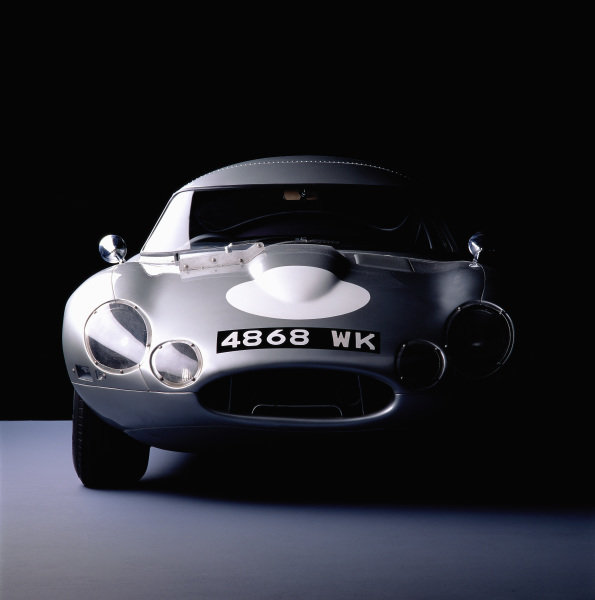 Jaguar E-Type Lightweight, 1964. The rebuilt car of Peter Lindner. Frankfurt, Germany.