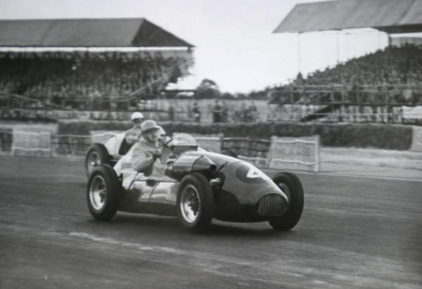 1952 British Grand Prix.Silverstone, Great Britain. 19 July 1952.Kenneth Downing (Connaught A-type-Lea-Francis).World Copyright - LAT Photographic