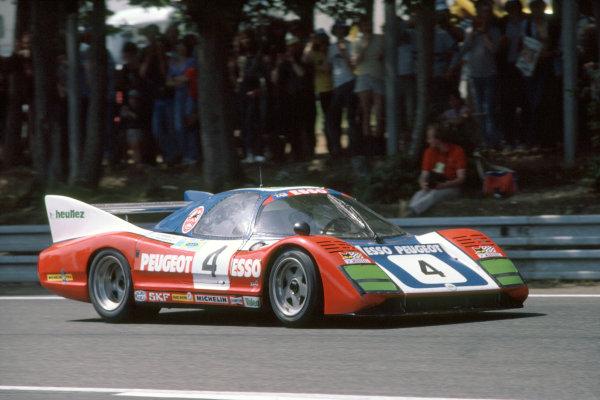 1981 Le Mans 24 HoursLe Mans, France. 13th - 14th June.Denis Morin/Xavier Mathiot/Charles Mendez (WM P79/80-Peugeot), 13th position.World Copyright: Murenbeeld/LAT Photographic.