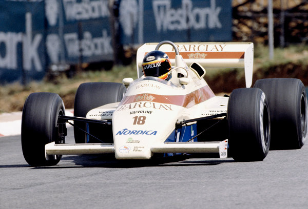 1984 South African Grand Prix.Kyalami, South Africa.5-7 April 1984.Thierry Boutsen (Arrows A6 Ford) 12th position.Ref-84 SA 69.World Copyright - LAT Photographic