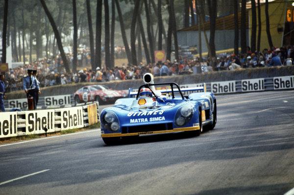 Le Mans, France. 15-16 June 1974.Jean-Pierre Jabouille/Francois Migault (Matra-Simca MS670B), 3rd position.World Copyright: LAT PhotographicRef: 35mm transparency 74LM14