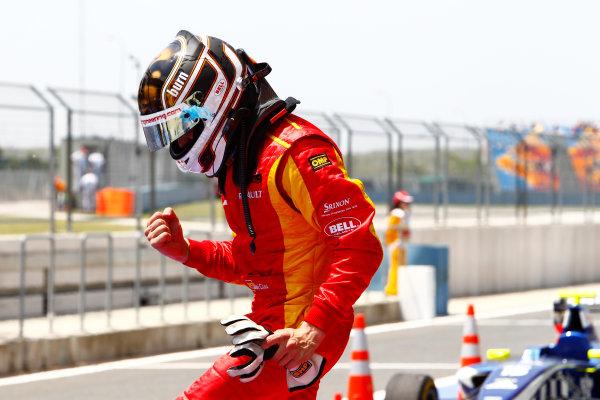 Round 3 Istanbul Park, Istanbul Turkey 30th May. Sunday Race.Dani Clos (ESP, Racing Engineering) celebrates his victory. Photo: Glenn Dunbar/GP2 Media Service.Ref: _G7C4869 jpg