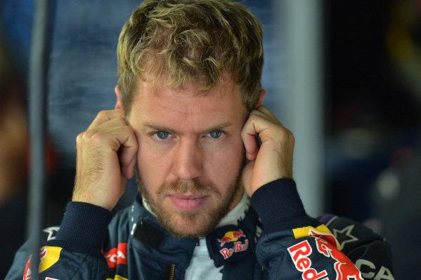 Sebastian Vettel (GER) Red Bull Racing. Formula One World Championship, Rd19, Brazilian Grand Prix, Practice, Sao Paulo, Brazil, Friday 22 November 2013.