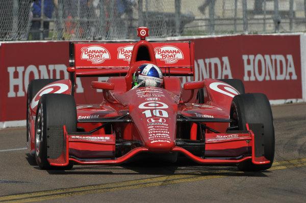 22-24 March, 2013, St Petersburg, Florida USA.#10 Dario Franchitti Target Chip Ganassi Racing Honda ©2013, Dan R.  LAT Photo USA